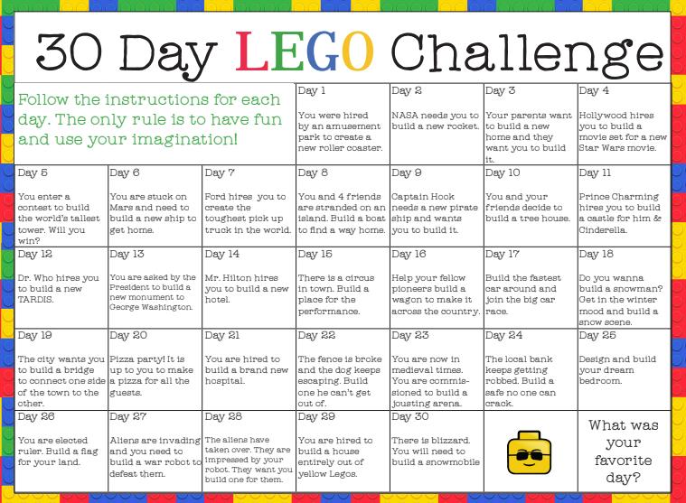 30-day LEGO Challenge